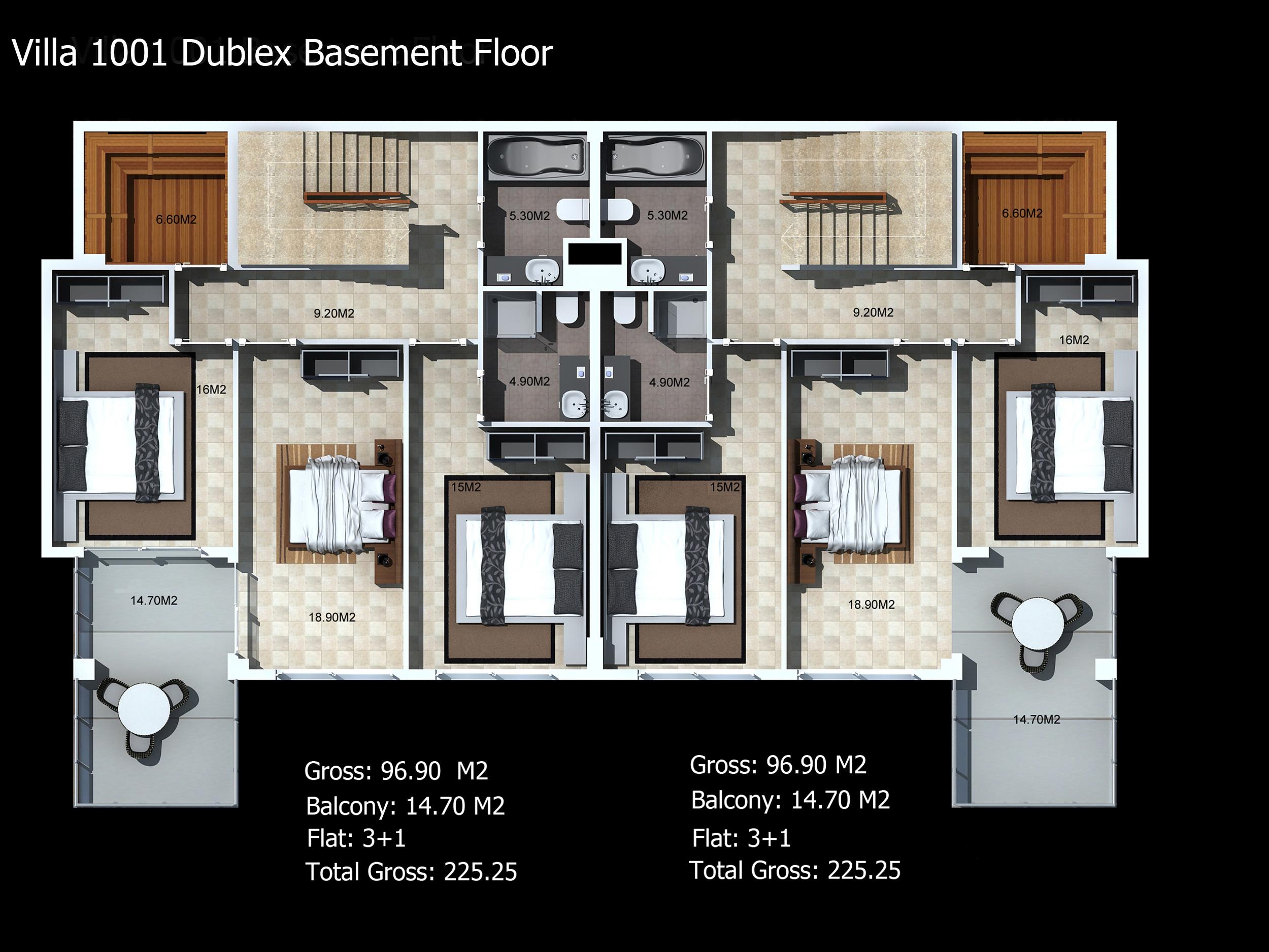 villa-1001-dublex-basement-floor